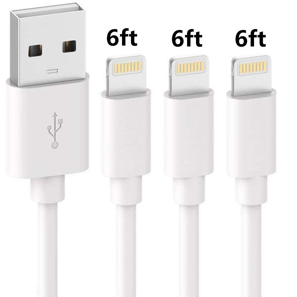 Cable SHARLLEN MFi Certified iPhone 6 Charger Cable x 3