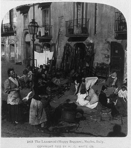photo-the-lazzaroni-happy-beggarsnaplesitaly-on-street