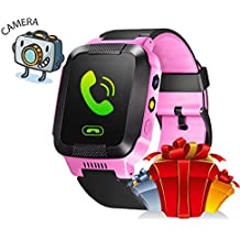 Oriole Kids Smart Watch with SIM 2 Way Call Text GPS Tracker Parents Control Camera Games Flash Night Light Touch Anti-lost SOS Children Bracelet Best New Year Gift For Boys Girls for iPhone Android