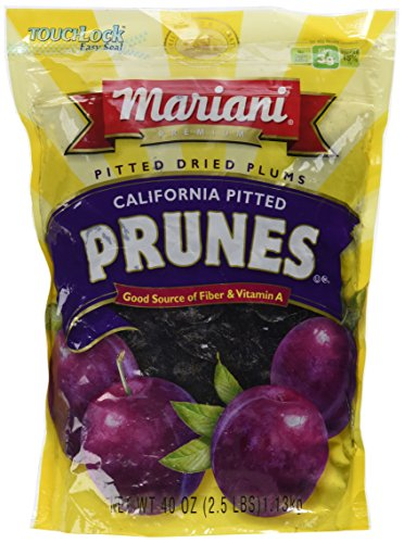 Mariani Pitted Dried Prunes – 40 Oz. Bag
