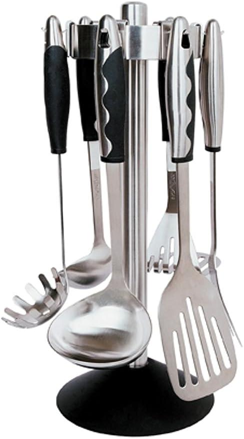 Amazon Com Berghoff Soft Grip Deluxe 7 Piece Kitchen Utensil Set Kitchen Dining