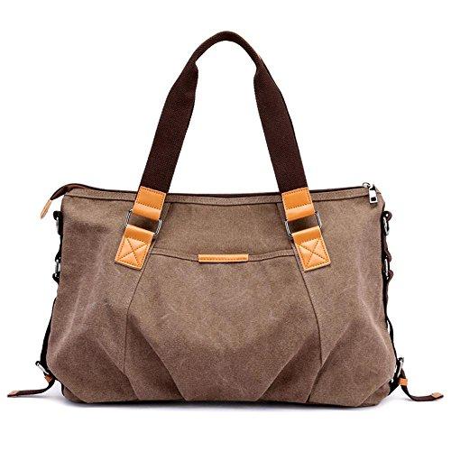 totalizador Penao bolso Lona hombro 53cmx14cmx30cm Brown señora bolso de de simple de tamaño elegante qrwZqF8g