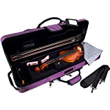 Protec Travel Light Violin PRO PAC Case - Purple