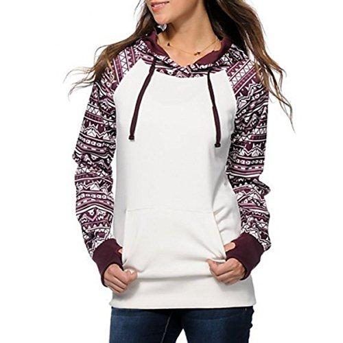 Fedi Apparel Fall Winter Long Sleeve Floral Print Pullover Hoodie Sweatshirt Tops