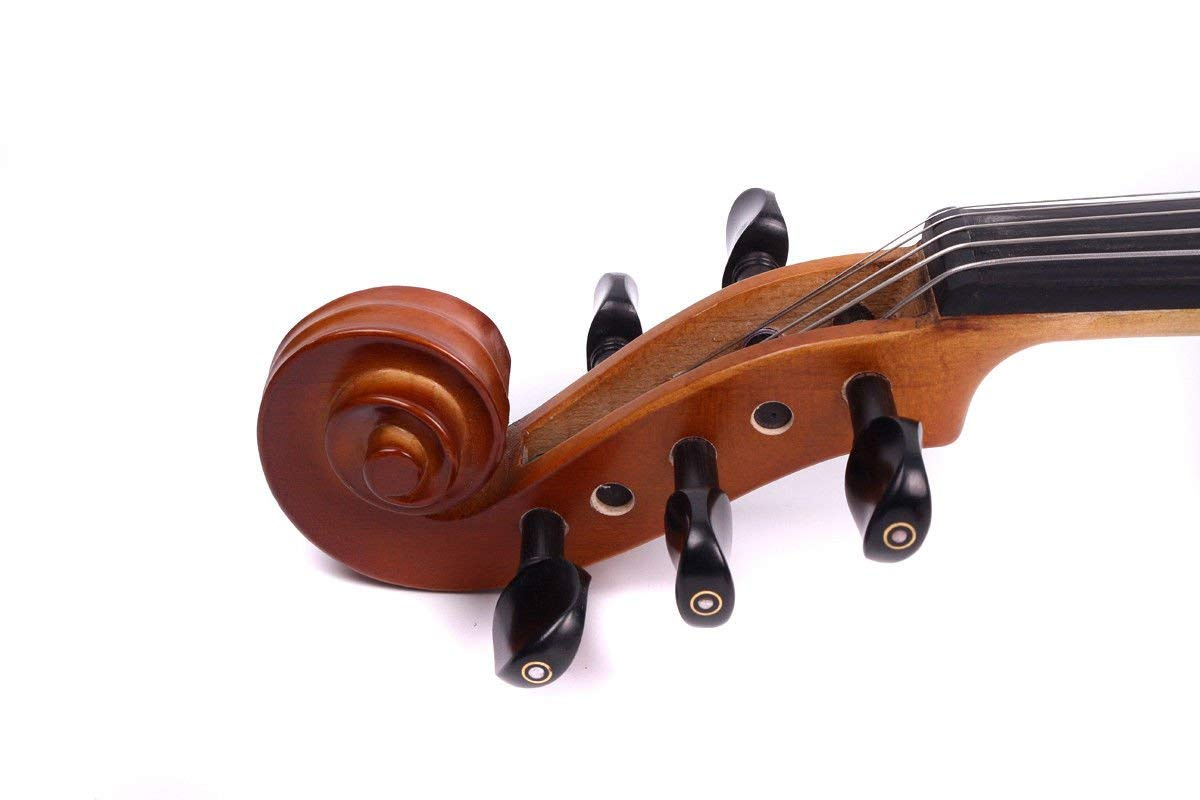 Yinfente 4/4 violin 5 string Electric violin Full size Maple Spruce wood Big jack Ebony wood Violin parts Sweet Sound by yinfente (Image #7)