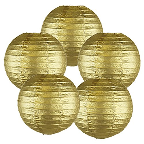 Just-Artifacts-8-Gold-Chinese-Japanese-Paper-Lanterns-Set-of-5-Click-for-more-ChineseJapanese-Paper-Lantern-Colors-Sizes