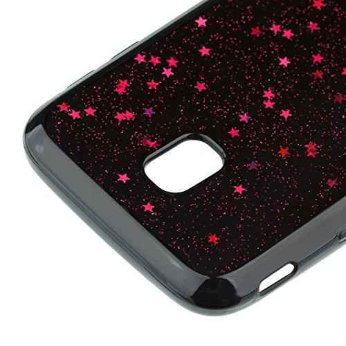 Funda Carcasa Protectora 360 Grados para Samsung Galaxy J3 2017 Samsung J330,Ukayfe Full Body Funda de silicona TPU en Transparente Ultra Slim Case Protección Completa Doble Cover Smartphone Móvil Acc rosa roja