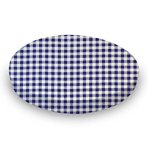 SheetWorld Fitted Oval Crib Sheet (Stokke Sleepi) - Purple Gingham Check - Made In USA