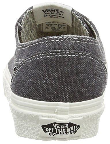 VansBrigata - Zapatillas de Deporte Unisex adulto Gris - Gris - Grey (Washed - Asphalt/Stripes)