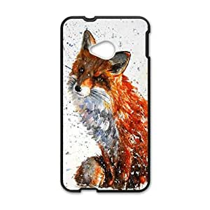 ZK-SXH - Love Fox Brand New Durable Cover Case Cover for HTC One M7, Love Fox Cheap Case