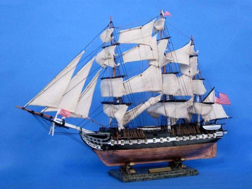 USS Constitution Limited 30 - Tall Ship Model - Wooden Model Ship - US Naval Warship by Handcrafted Model Ships