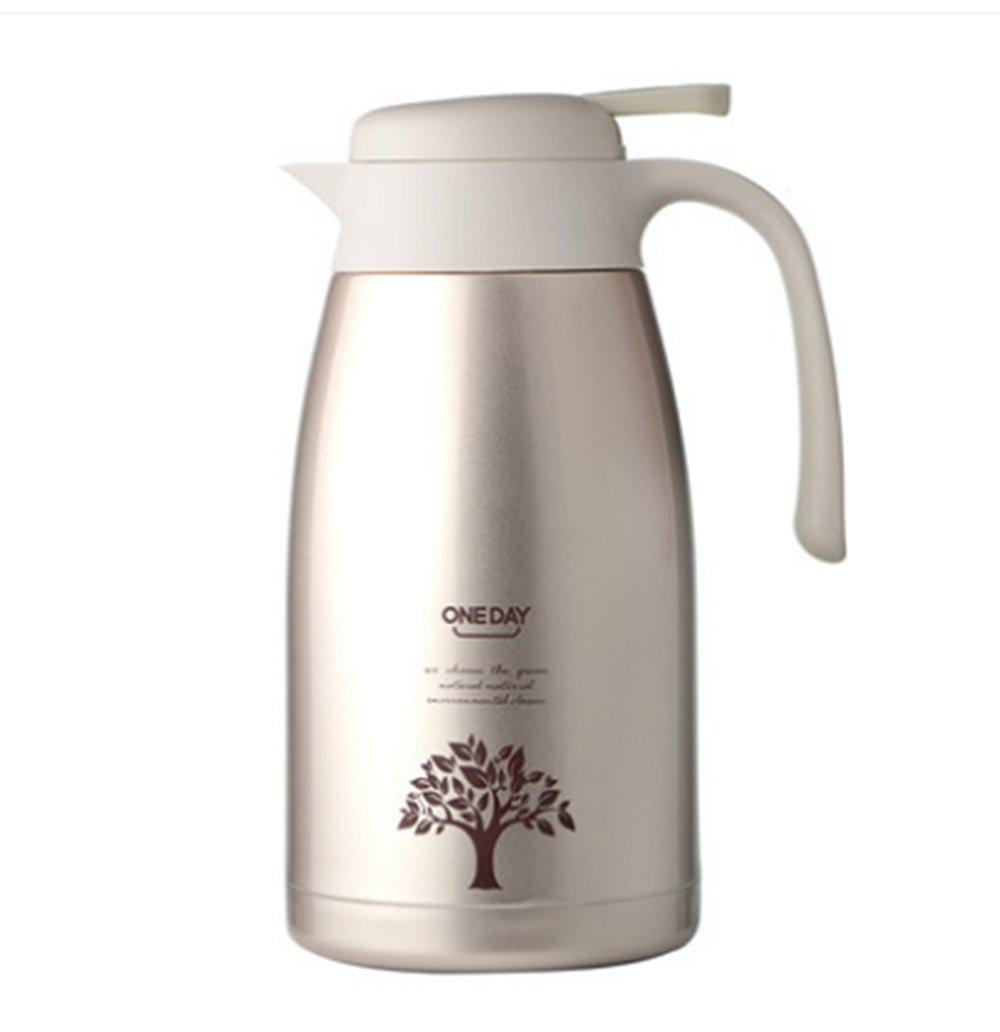 GRSB Flasche,Thermos 2L Thermosbecher Edelstahl Thermo Isoliert Becher Reisekessel Thermische Topf Trinkflasche Für Wasser Isolierglas Becher