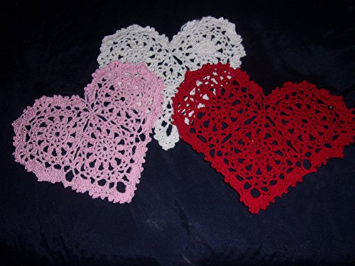 (Valentine Hearts, Love of my Heart, Red White Pink Set of 3)
