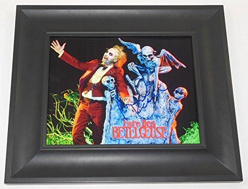 Michael Keaton Beetlejuice Signed Autographed 8x10 Photo Gallery Framed Loa
