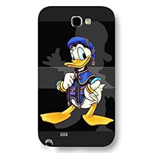 Customized Black Frosted Disney Donald Duck Samsung Galaxy Note 2 Case
