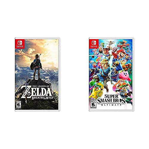 The Legend of Zelda: Breath of the Wild – Nintendo Switch Bundle with Super Smash Bros. Ultimate