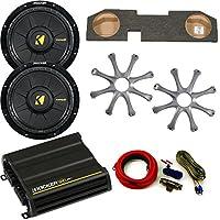 Kicker Dodge Ram Quad / Crew Cab 02-15 - 12 Comp D Subs under-seat w/ Kicker Grilles, 300 watt Amp & Wire kit