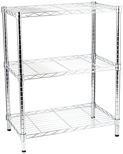 Honey-Can-Do SHF-01903 Adjustable Storage Shelving, 250-Pounds Per Shelf, Chrome, 3-Tier, 24Lx14Wx30H]()