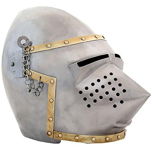 Ectoria EC01-055 Pig Face Bascinet Helmet (LARP / SCA / M...