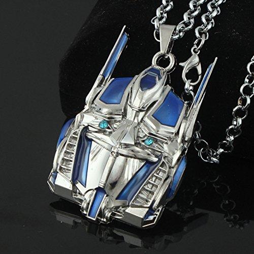 Generic /_Movie/_Optimus/_Prime/_Autobot/_Zhou/_Bian/_ pendant necklace /_large/_blue/_ diamond jewelry /_for/_men