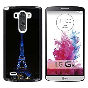 LECELL -- Funda protectora / Cubierta / Piel For LG G3 D855 D850 D851 -- Architecture Eiffel Tower At Night --