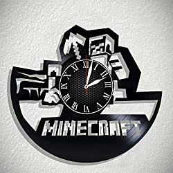 Olha Art Design Minecraft HANDMADE Vinyl Record Wall Clock – Perfect gifts for birthday wedding anniversary valentine's mother's father's day - Gift ideas for men and women him and her
