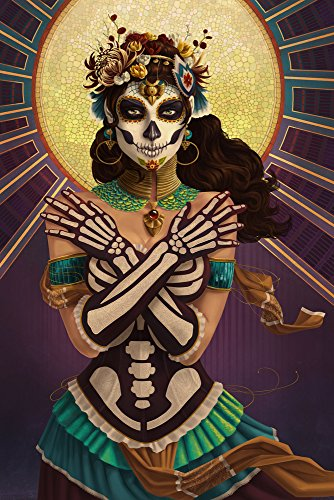 Day of the Dead - Crossbones (12x18 Art Print, Wall Decor Travel Poster)