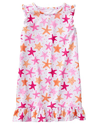 Gymboree Girls' Little Sleep Gown, Pink Starfish, M ()