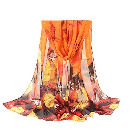 largas bufandas moda impreso mant Aimee7 gasa bufanda dulce mujer wq0gY0