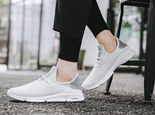 Stringate Uomogo Uomo Ginnastica Estive Scarpe Sportive Moda Running Eleganti Corsa Donna Sneakers Bianco Da ღ gCq71C