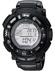 Casio Mens PRO TREK Quartz Resin Sport Watch, Color:Black (Model: PRW2500-1A)