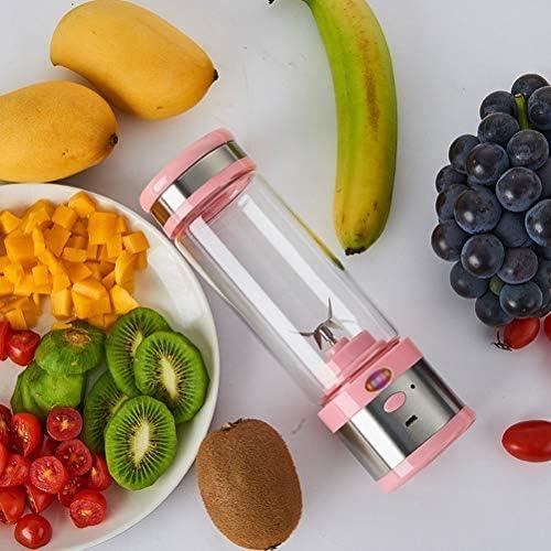 LI_HUA Mini Blender Juicer Cup Portable Fruit Citruspers Mixer Fruit Extractor Multifunctionele machine Outdoor USB oplaadbaar 4 messen 280 ml