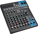 YAMAHA MG10XU 10channels Negro Mezclador de Audio - Mezclador para DJ (10 Canales, 24 bit, 192 kHz, 6,3 mm, 22.9 W, 244 mm)