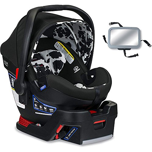Britax B-Safe Ultra Infant Car Seat with Back Seat Mirror – Cowmooflage