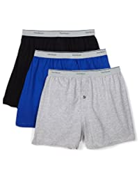 Fruit of the Loom Men'sKnit Boxer with Exposed Waistband, Assorted(Pack of 3)