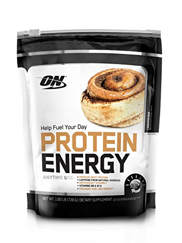 OPTIMUM NUTRITION On Protein Energy Powder, Cinnamon Bun, 1.6 Pound (Best Protein Powder For Energy)