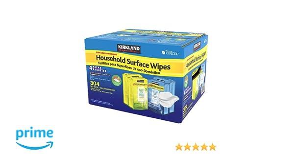 Toallitas desinfectantes extra grandes para superficies del hogar de Kirkland Signature: Amazon.es: Salud y cuidado personal