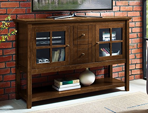 WE Furniture AZ52C4CTWT Wood Console Table, - Room Dining Credenza