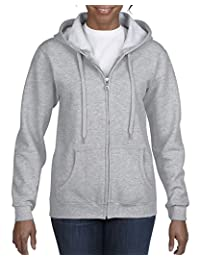 Gildan Womens Full Zip Hooded Sweatshirt Hooded Sweatshirt