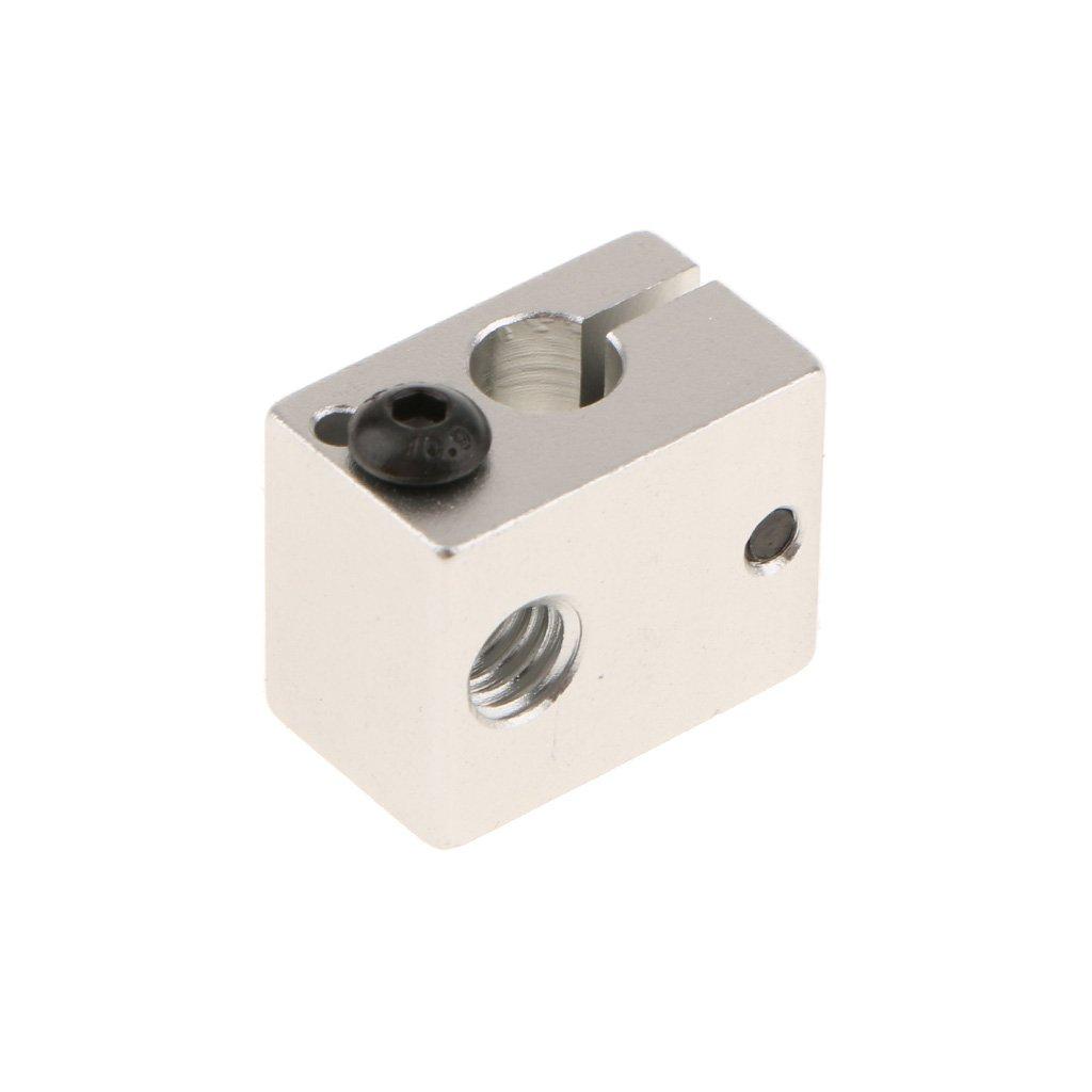 mk8 Sharplace 10pcs Remplacement Bloc de Chauffage en Aluminium Heater Block pour Extrudeuse Imprimante 3D 20x20x10mm