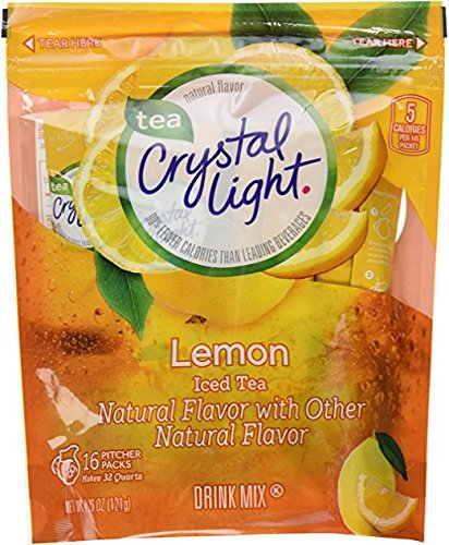 (Crystal Light Ice Tea, Natural Lemon, 32 Count 2 Pack of 16ct,64 Quarts)