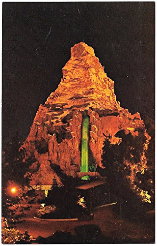 Disneyland Postcard Matterhorn Mountain at Night~97373