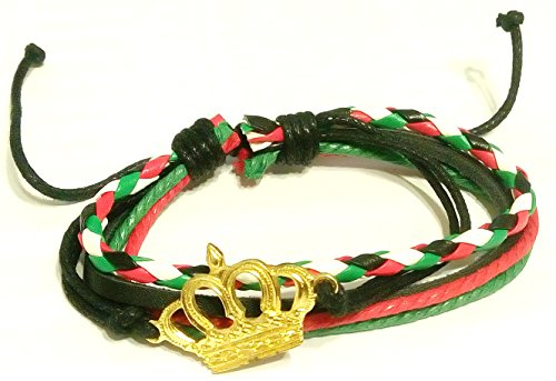 Unisex Jordan Flag Map Colors Cord Bracelet Fashion Bangle Royal Jordan Wristband Cuff