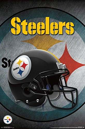Trends International Pittsburgh Steelers Helmet Wall Poster 22.375u0026quot; ...