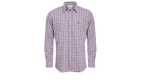 Almsach Camisa tradicional para hombre, corte ajustado ...
