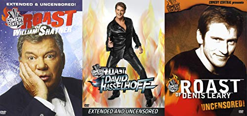 Comedy Central Roasts DVDs - William Shatner / David Hasslehoff / Denis Leary - Uncensored