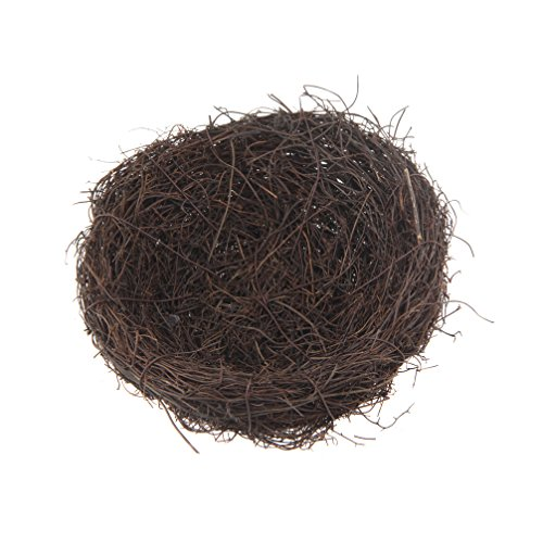 Amazing Emours Natural Bird Nest Woven Vine Bird Finch House Bedding ,2 Pack Awesome Design