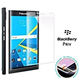 BlackBerry Priv tempered glass screen protector, Feitenn 3D Curved Full Screen film 0.2mm HD Clear Gorilla Glass Protector Film For BlackBerry Priv (Clear)