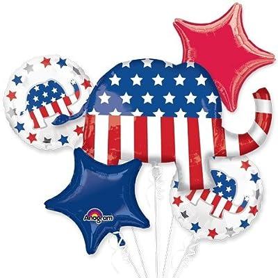 American Balloon Company Republican Party Balloons GOP Balloons Bouquet 5 Pieces: Toys & Games