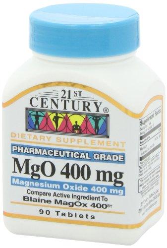 21st Century Health Care, MgO, Óxido de Magnesio - 400mg x90tabs: Amazon.es: Salud y cuidado personal